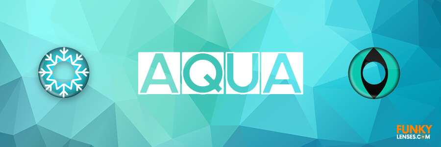 Aqua Colored Contact Lenses