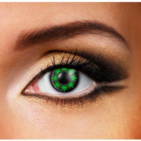 Multi Cannabis Leaf Contact Lenses (Pair)