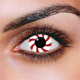 Candy Cane Contact Lenses (Pair)