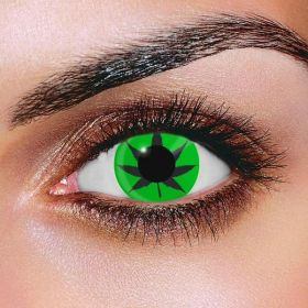 Cannabis Leaf Green Contact Lenses