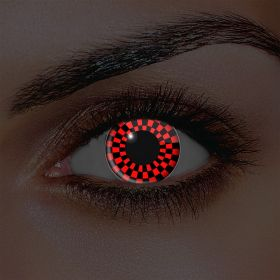 I-Glow Red and Black Checkers Contact Lenses (Pair)