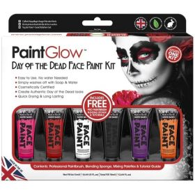 PaintGlow Day of the Dead Face Paint Gift Set