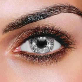 Glimmer Silver Contact Lenses