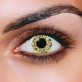 Glimmer Black and Gold Contact Lenses (Pair)