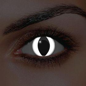 i-Glow White Cat Eye UV Contact Lenses