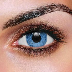 One Tone Blue Contact Lenses