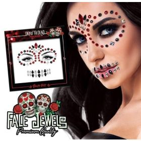 PaintGlow Day Of The Dead Face Jewels