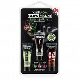 PaintGlow Glow in the Dark Fright Fest Liquid Latex Pack