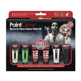 PaintGlow Halloween Blood & Glow Face Paint Kit