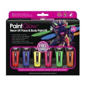 PaintGlow Neon UV Face & Body Paint Kit