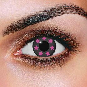 Pink Sparkle Contact Lenses
