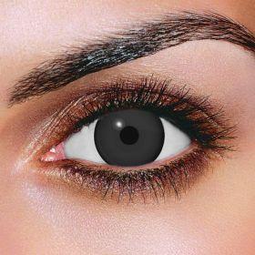 Prescription Mini Sclera Black Contact Lenses