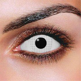 Prescription White Mesh Contact Lenses