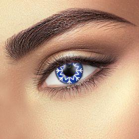 Snowflake contact lenses