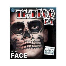 Tinsley Skull Face Temporary Tattoos