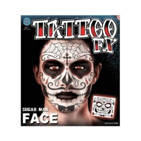 Tinsley Sugar Man Face Tattoo (Day Of The Dead)