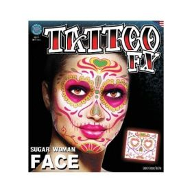 Tinsley Sugar Woman Face Tattoo (Day Of The Dead)