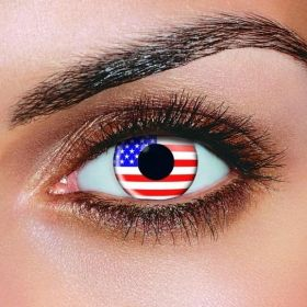 USA American Flag Contact Lenses